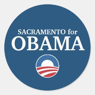 SACRAMENTO para o costume de Obama sua cidade Adesivo