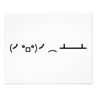 Sacudir da mesa que lança o Emoticon do ASCII Flyer 11.43 X 14.22cm