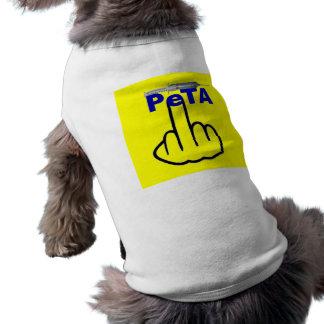 Sacudir de Peta da roupa do cão Camiseta