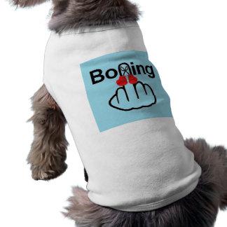 Sacudir do encaixotamento da roupa do cão camiseta