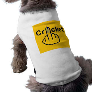 Sacudir do grilo da roupa do cão camiseta