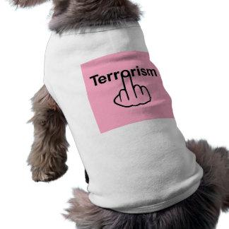 Sacudir do terrorismo da roupa do cão camiseta