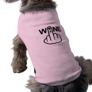 Sacudir do vinho da roupa do cão camiseta
