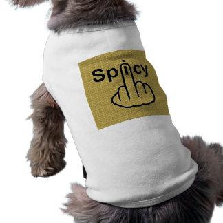 Sacudir picante da roupa do cão camiseta