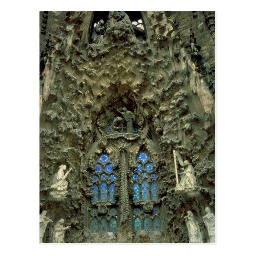Sagrada Familia, Barcelona, espanha Cartao Postal