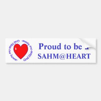 sahm@heart - deus abençoe nosso autocolante no vid adesivo para carro