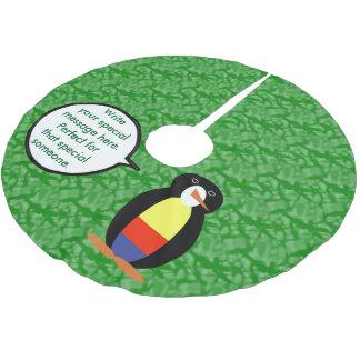 Saia Para Árvore De Natal De Poliéster Sr. colombiano Pinguim do feriado