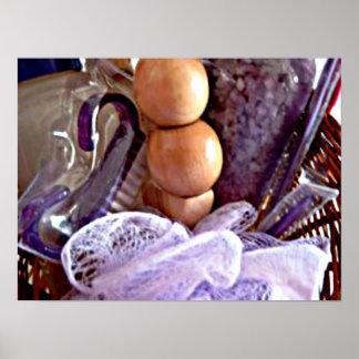 Sais de banho home da lavanda da decoração dos ter poster