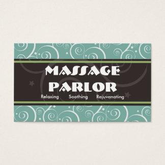 Sala de estar de massagem de Swirly Cartão De Visitas