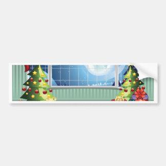 Sala de visitas do Natal Adesivo Para Carro