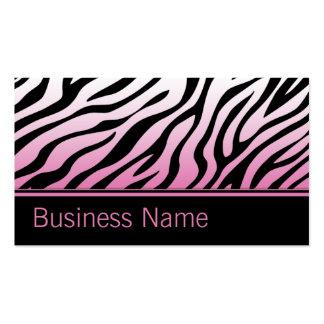 Salão de beleza cor-de-rosa do cabeleireiro do cartão de visita