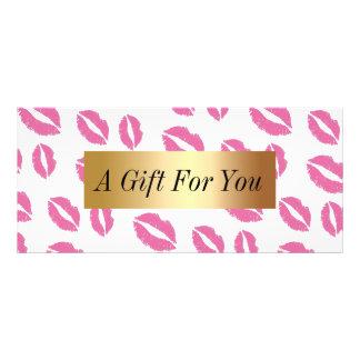 Salão de beleza cor-de-rosa moderno dos beijos dos 10.16 x 22.86cm panfleto