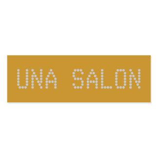 SALÃO DE BELEZA DE UNA CARTÃO DE VISITA SKINNY