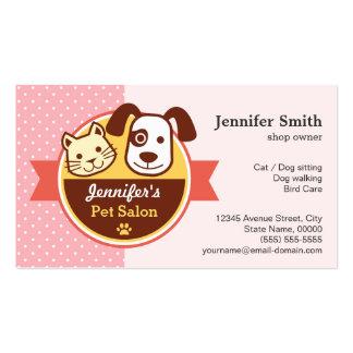 Salão de beleza do animal de estimação - bolinhas cartão de visita