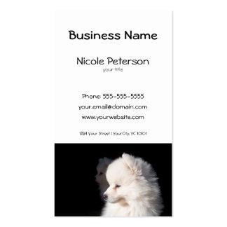 salão de beleza do animal de estimação - cabeça de cartão de visita