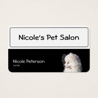 salão de beleza do animal de estimação - cabeça de cartão de visitas