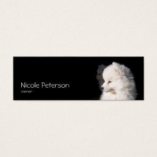 salão de beleza do animal de estimação - cabeça de cartão de visitas mini