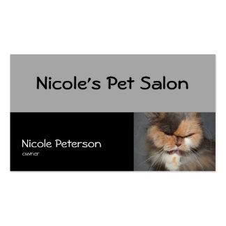 salão de beleza do animal de estimação - gato cartão de visita