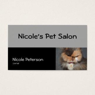 salão de beleza do animal de estimação - gato cartão de visitas