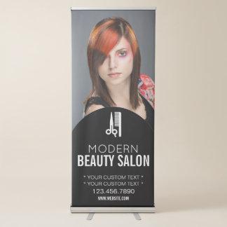 Salão de beleza do cabeleireiro | do maquilhador | banner retrátil