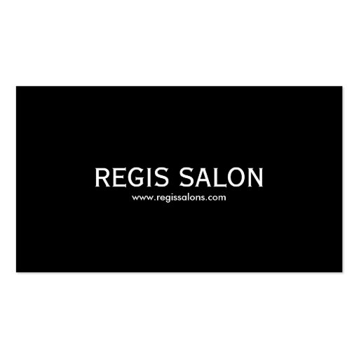SALÃO DE BELEZA do REGIS, www.regissalons.com Cartões De Visitas