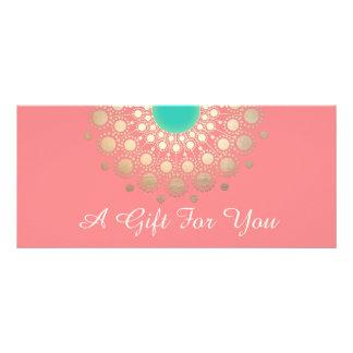 Salão de beleza do rosa da mandala do ouro e 10.16 x 22.86cm panfleto