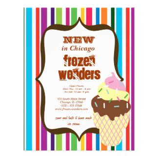 Salão de beleza do sorvete panfleto coloridos
