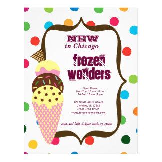 Salão de beleza do sorvete modelo de panfleto