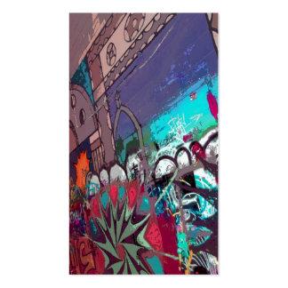 Salão de beleza dos grafites cartão de visita