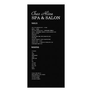 Salão de beleza e de tabela de preços & de 10.16 x 22.86cm panfleto