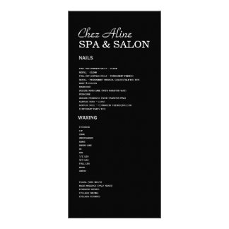 Salão de beleza e de tabela de preços & de panfleto