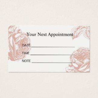 Salão de beleza floral do rosa do vintage do cartão de visitas