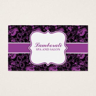 Salão de beleza floral elegante do cabeleireiro do cartão de visitas