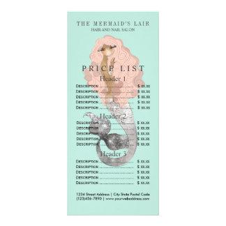Salão de beleza litoral feminino da sereia à moda panfleto