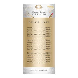 Salão de beleza moderno do ouro & da prata da 10.16 x 22.86cm panfleto