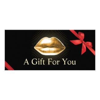 Salão de beleza moderno dos lábios do ouro dos 10.16 x 22.86cm panfleto