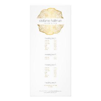Salão de beleza orgânico dos anéis de árvore do 10.16 x 22.86cm panfleto