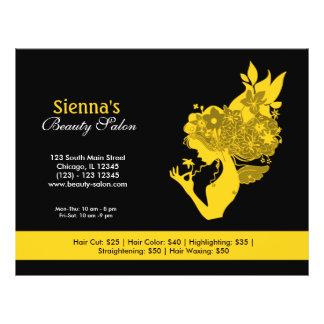 Salão de beleza (ouro) panfletos personalizados