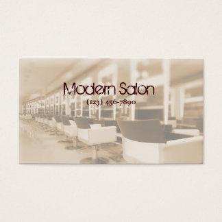 Salão de beleza simples cartão de visitas