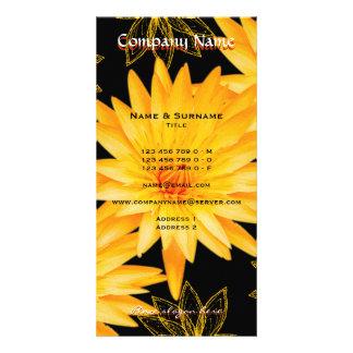 Salão de beleza, termas, florista, cartão de visit cartão com foto