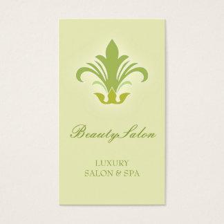 Salão de beleza, verde do design de cartão de