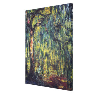 Salgueiro Weeping por Claude Monet, belas artes do