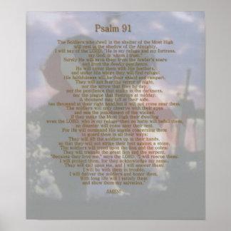 Salmo 91 do refúgio de um soldado pôster