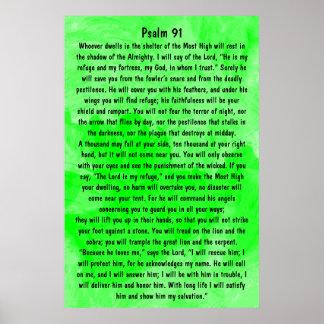 salmo 91 do verso da bíblia pôster
