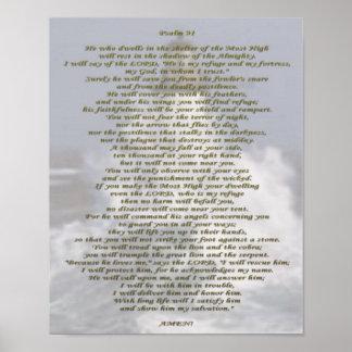Salmo 91 NIV Pôster