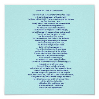 Salmo 91 - O deus é nosso protetor Pôster