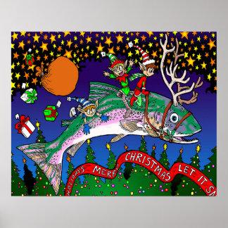 Salmões do Natal Pôster