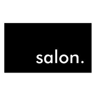 salon. cartão de visita