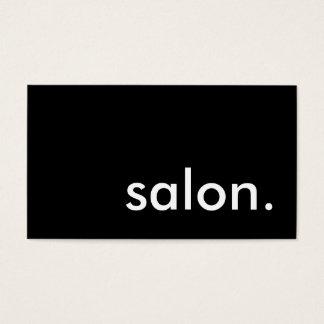 salon. cartão de visitas