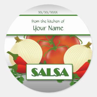 Salsa que enlata a etiqueta feita sob encomenda da